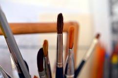 Пук paintbrushes Стоковая Фотография