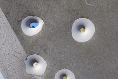 Пулевые отверстия от снимая тренировок в найденном дорожном знаке в Германии стоковое изображение rf