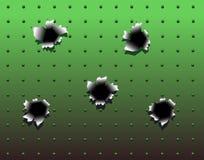 пулевые отверстия Стоковая Фотография RF