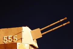 Пулемет военного корабля Стоковое Изображение