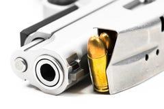 Пули на белой предпосылке Стоковая Фотография