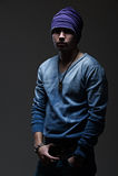 пуловер человека шлема стоковые изображения