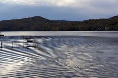 Пульсации на озере Massawippi, северном Hatley, Квебеке Стоковые Фотографии RF