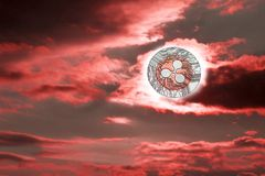 Пульсация захода солнца стоковое изображение