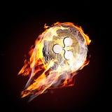 Пульсация на огне стоковые фото