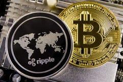 Пульсация современный путь обмена и этой секретной валюты Стоковое Изображение