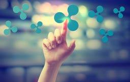 Пульсация с отжимать руки кнопка стоковое изображение