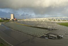 пульсация шторма барьера maeslant Стоковая Фотография