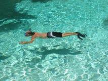 пульсация snorkeling стоковое изображение