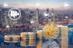 Пульсация XRP и концепция торговой операции Cryptocurrency стоковая фотография