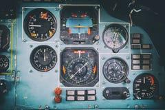 Пульт управления в старой арене самолета СССР Стоковые Изображения RF