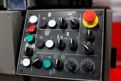 Пульт управления машины механической обработки Стоковое фото RF