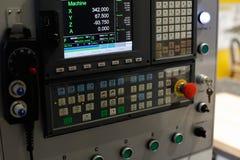 Пульт управления машины CNC Стоковое фото RF
