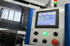 Пульт управления с дисплеем стоковая фотография rf