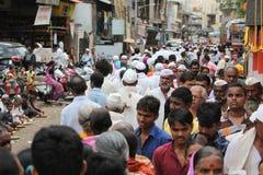 Пуна, Индия - July 11, 2015: Толпа тысячей людей Стоковая Фотография RF