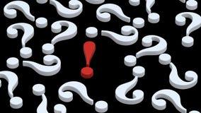 пункта восклицательные знаки белизны вопросе о красной Стоковые Фотографии RF