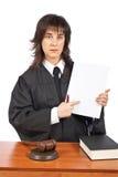 пункты заказов судьи пустого суда женские к стоковое изображение rf