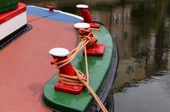 Пункты зачаливания на барже канала Стоковое Фото