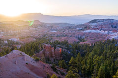 Пункт восхода солнца в каньоне Bryce Стоковые Фото