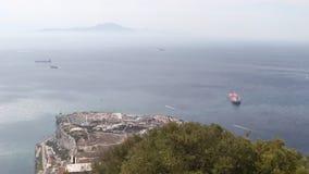 Пункт Гибралтар Европы сток-видео