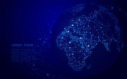 Пункт карты мира, линия Стоковое Изображение RF