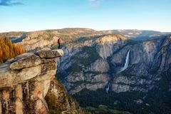 Пункт ледника, Yosemite NP, США стоковая фотография