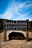 Пункт накидки подписывает внутри Южную Африку Стоковое фото RF