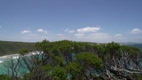 Пункт обсерватории на большом приводе океана, Esperance, западной Австралии акции видеоматериалы