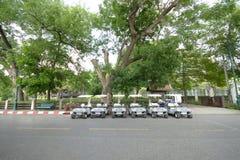 Пункт обслуживания автомобиля для туриста Стоковое фото RF