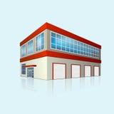Пункт обслуживания и офис с отражением иллюстрация вектора