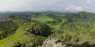 Пункт перспективы утеса Marias, богемская Швейцария, Cze Стоковая Фотография RF