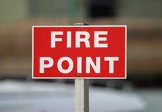 пункт пожара стоковая фотография