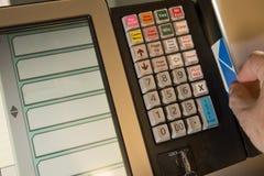 Пункт продажи родовой с настоящим моментом карточки Стоковые Фотографии RF