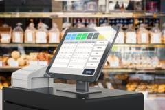 Пункт системы продажи для управления магазина иллюстрация вектора