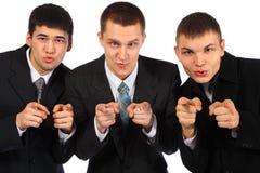 пункт 3 перстов бизнесменов вы Стоковое Изображение