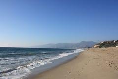 пункт dume california пляжа стоковые изображения rf