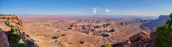 Пункт Grandview в национальном парке Canyonlands Стоковое Изображение RF