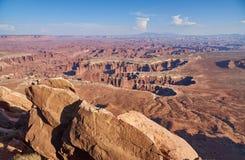 Пункт Grandview в национальном парке Canyonlands стоковое фото