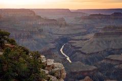 Пункт Hopi, грандиозный каньон Стоковые Фото