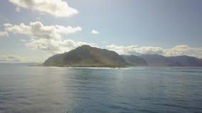 Пункт Kaena на острове Оаху в трутне Гаваи видеоматериал