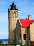 пункт mackinac маяка Стоковая Фотография RF