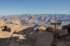 Пункт Ooh Aah обозревает гранд-каньон Стоковые Изображения RF