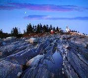 пункт pemaquid маяка Стоковая Фотография RF