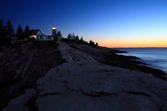 пункт pemaquid маяка Стоковое фото RF