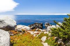 Пункт Pescadero на приводе 17 миль в большом Sur Калифорнии Стоковое Изображение RF