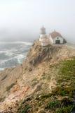пункт reyes маяка тумана стоковая фотография rf