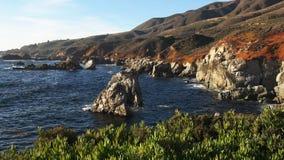 Пункт Soberanes на побережье Калифорния в большом sur акции видеоматериалы