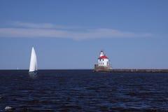 пункт wisconsin маяка стоковая фотография rf