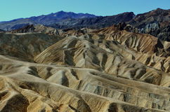 Пункт Zabriske, национальный парк Death Valley, Калифорния, США Стоковая Фотография