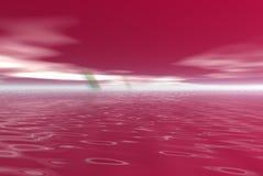 пунцовая вода Стоковая Фотография
